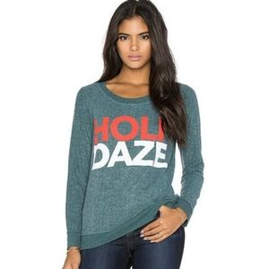 CHASER HOLIDAZE Graphic Pullover Sweatshirt Top